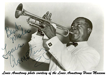 Louis Armstrong photo courtesy of the Louis Armstrong House Museum