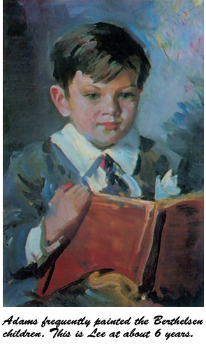 Adams frequently painted theBerthelsen children. This is Leeat about 6 years.